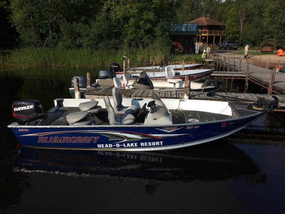 16 1/2ft Alumacraft with 75hp Evinrude Etec